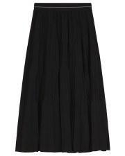 Invert Pleats Teen Skirt Black