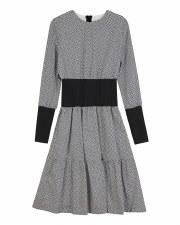 Printed Teen Dress W/ Ribbed W