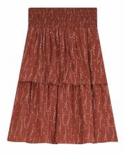 Tiered Teen Skirt W/ Print Cor