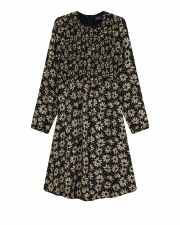 Smocked Teen Floral Dress Blac
