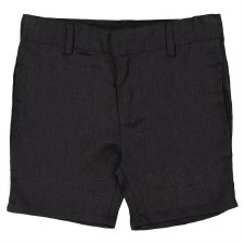 Analogie Linen Shorts Black 18