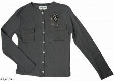 Button Down Top W/ Pin Grey-16