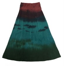 Long Tie Dye Skirt Teal 7