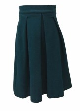 Brushed Wool Skirt Teal 18
