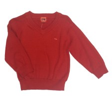 Boys Vneck Sweater Rust 6