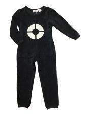 Ribbed Velour PJ Black 8