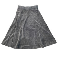 Velour Skirt Grey 4