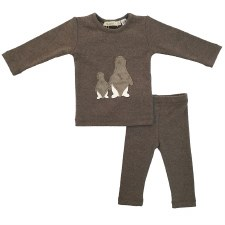 Fur Penguins Baby Set Grey 9M