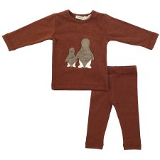Fur Penguins Baby Set Rust 12M