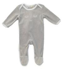 Velour Blink Stretchie Grey 1M