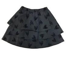 Skirt W/ Velvet Hearts Grey 3