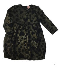 Lace Hearts Dress Black/Gold 3