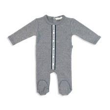 Stretchie W/ Stripe Grey 12M