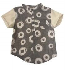 Circle Print S/S Shirt Grey 7