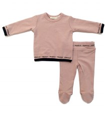 FRAGILE 2pc Set Blush 12M