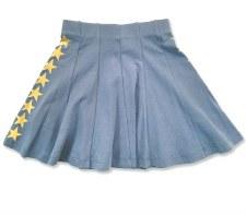 Skirt W/ Gold Stars Blue 18