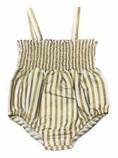 Gold Striped Romper Gold 9M