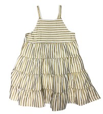 Tiered Striped Jumper Gold 4