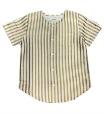 Gold Striped S/S Shirt Gold 3
