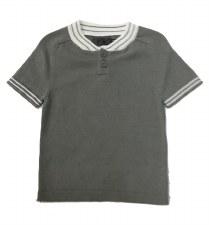 S/S Sweater W/ Stripe Trim Gre