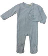 Textured Stretchie Set Blue 9M