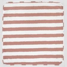 Striped Blanket Mauve/White
