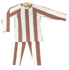 Striped PJ Mauve/White 5