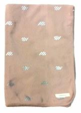 Blanket W/ Silver Drops Rose