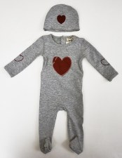 Shapes Stretchie Set Grey/Red