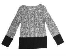 Ribbed Sweater Black/White 5