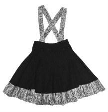 Ribbed Knit Jumper Black/White