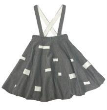 Knit Jumper W/ Squares Grey 6