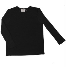 Top W/ Ribbed Sleeves Black 6