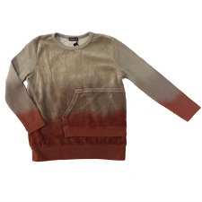 Dip Dye Velour Pocket Top Spic