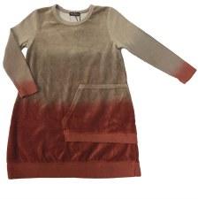 Dip Dye Velour Dress Spice 5