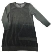 Dip Dye Velour Dress Grey 12
