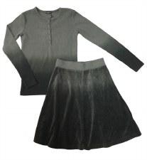 Dip Dye Velour 2pc Grey 18