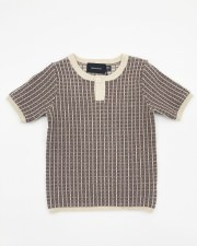 Grid S/S Sweater Cocoa 2