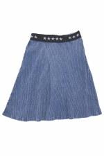 Ribbed Denim Washed Skirt Medi