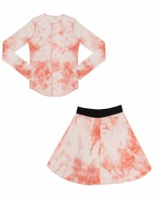 Ribbed Tie Dye 2pc Coral 8