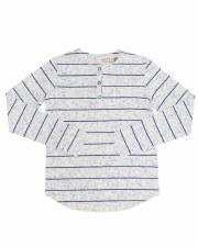 Rib Mix Tshirt W/ Stripes Roya