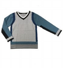 Colorblock Sweater Blue/Grey 7