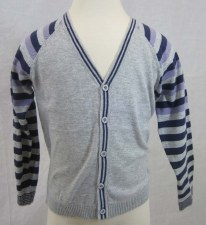 Boys Button Down Sweater Grey/