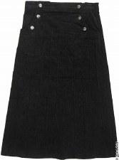 Corduroy skirt w/ Buttons Blac