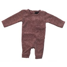 Metallic Ribbed Romper Wine 6M