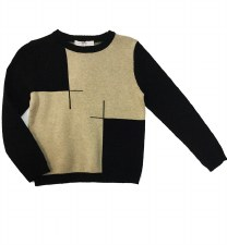 Colorblock Sweater Black/Beige