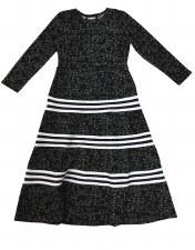 Stars & Stripes Robe Black/Whi