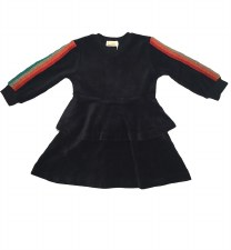 Velour Dress W/ Rainbow stripe