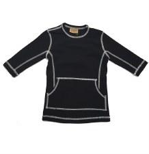 Tshirt w/ Stitching Black/Whit