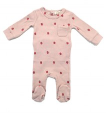 Ribbed Berry Stretchie Pink 6M
